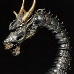 Takeya Style Jizai Okimono - Dragon - Iron Rust Look Edition - Revoltech Takeya