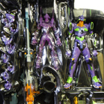 EVA-01 New Movie Edition & Positron Rifle w/ EVA-01 Mini New Movie Edition Clear Version - Editions limit�es